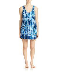 J Valdi | Blue Printed Pocket Cover Up Dress | Lyst