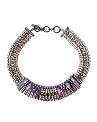 Iosselliani - Multicolor Faded Ink Chain Necklace - Lyst