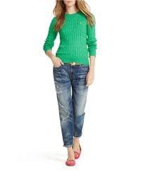 Polo Ralph Lauren | Green Cotton Crewneck Sweater | Lyst