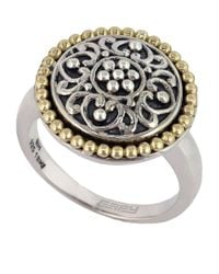 Effy | Metallic Balissima 18 Kt Yellow Gold And Sterling Silver Ring | Lyst
