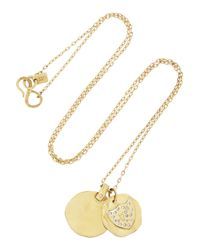 Scosha | Metallic 14-Karat Gold Diamond Charm Necklace | Lyst