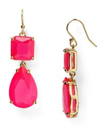 kate spade new york - Pink Vegas Jewels Drop Earrings - Lyst