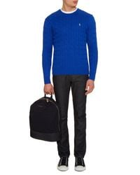 Polo Ralph Lauren - Blue Cable-knit Cotton Sweater for Men - Lyst