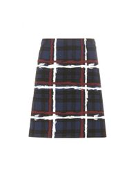 Marc By Marc Jacobs - Blue Chalky Tartan Printed Crêpe Skirt - Lyst