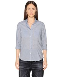 Golden Goose Deluxe Brand | Blue Cotton Gingham Shirt | Lyst