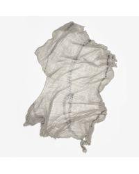 Raquel Allegra - Gray Full Shred Scarf - Lyst