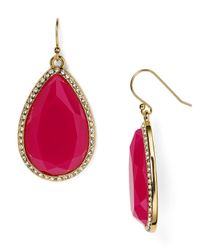 kate spade new york | Pink Day Tripper Pavé Earrings | Lyst