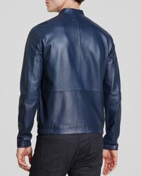 Theory | Blue Arvid L Revolt Leather Jacket for Men | Lyst