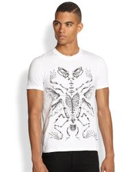 McQ - White Handdrawn Crewneck Tee for Men - Lyst