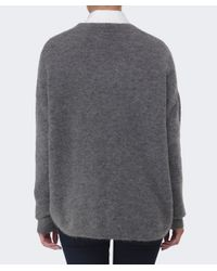 Gestuz | Gray Gaby Wool V-neck Jumper | Lyst