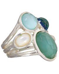 Ippolita - Green Blue Tahiti Five Stone Wonderland Ring - Lyst