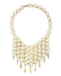 DANNIJO Metallic Thor Golden Bib Necklace