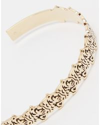 KENZO | Metallic Gold Plated Tiger Hearring Bracelet | Lyst