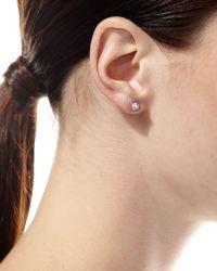 Borgioni | Metallic 18k White Gold Diamond Spike Stud & Jacket Earrings | Lyst