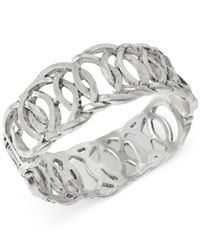 Robert Lee Morris | Metallic Silver-tone Cut-out Hinged Bangle Bracelet | Lyst