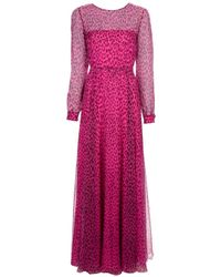 Valentino | Pink Ruffled Dress | Lyst
