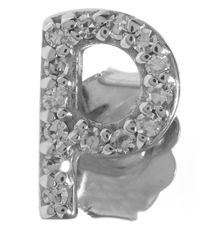 KC Designs | Metallic White Gold Diamond P Single Stud Earring | Lyst