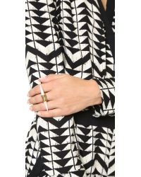 Tory Burch - Metallic Horn Ring - Ivory/ Gold Ox Matte - Lyst