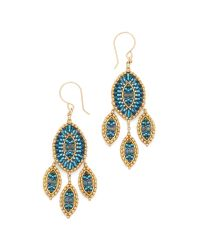 Miguel Ases - Sophia Earrings - Blue Multi - Lyst