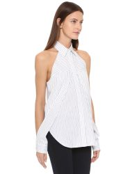 Dion Lee | White Line Ii Sleeve Release Shirt | Lyst