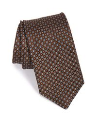 John W. Nordstrom | Brown 'solo Neat' Silk Tie for Men | Lyst