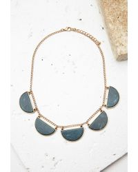 Forever 21 | Green Faux Stone Statement Necklace | Lyst