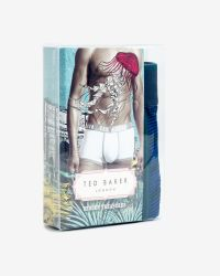 Ted Baker | Blue Striped Boxer Shorts for Men | Lyst