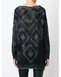 Avant Toi | Black Lace Knit Sweater | Lyst