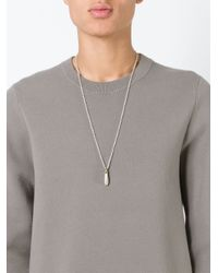 Rick Owens | Metallic Drop Pendant Necklace for Men | Lyst