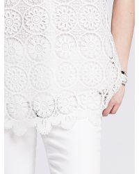 Banana Republic | White Medallion Lace Top | Lyst