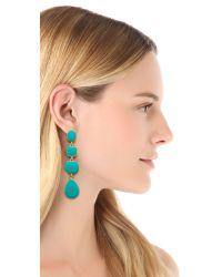 Kenneth Jay Lane - Blue Geometric Drop Earrings - Lyst