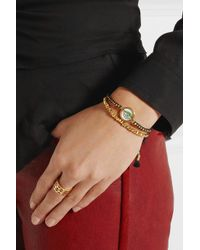 Iam By Ileana Makri - Metallic Set Of Two Goldplated Pyrite and Cord Bracelets - Lyst