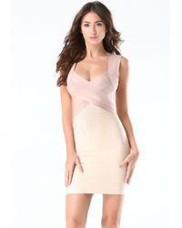 Bebe - Pink Ally Colorblock Dress - Lyst