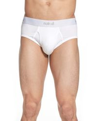 Naked - Essential 2-pack Stretch Cotton Briefs, White for Men - Lyst