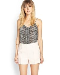 Forever 21 - Pink Contemporary Pleated Woven Shorts - Lyst