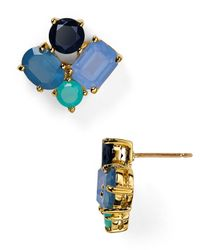 kate spade new york - Blue Cluster Stud Earrings - Lyst