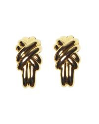 Rarities | Metallic Givenchy Cross Earrings | Lyst