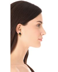 Elizabeth Cole - Metallic Petite Mohawk Earrings - Lyst