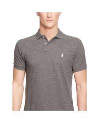 Polo Ralph Lauren   Black Custom-fit Mesh Polo Shirt for Men   Lyst