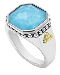 Lagos | Blue 14mm Sterling Silver Turquoise Rocks Ring | Lyst