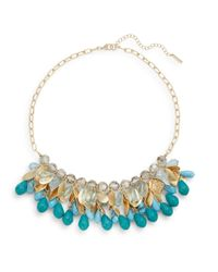 Saks Fifth Avenue | Blue Beaded Hammered Disc Collar Necklace | Lyst