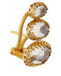 Larkspur & Hawk | Metallic Gold Grey White Topaz Tessa Earrings | Lyst