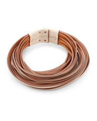 Brunello Cucinelli | Brown Leather Collar Necklace | Lyst