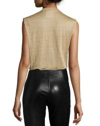 Isabel Marant - Metallic Linen Scoop-neck Tee - Lyst
