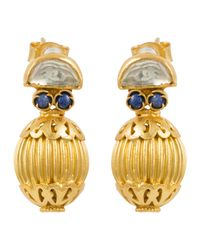Kastur Jewels | Heritage Blue Lapis & Crystal Earrings | Lyst
