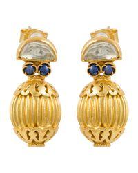 Kastur Jewels - Heritage Blue Lapis & Crystal Earrings - Lyst