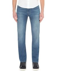 Armani Jeans | Blue Slim-fit Mid-wash Jeans for Men | Lyst