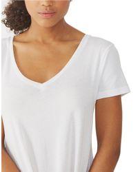 Alternative Apparel   White V-neck T-shirt   Lyst