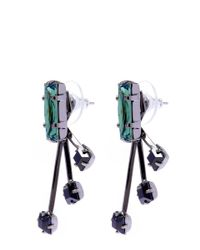 Joomi Lim - Green And Black Shape Shifter Swarovski Crystal Stud Earrings - Lyst
