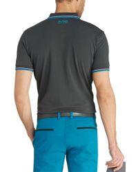 BOSS Green Blue Regular Fit Piqué Golf Polo Shirt 'paddy Pro' for men